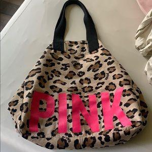 Victoria's Secret pink leopard travel bag